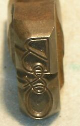 Vintage Bando Rr Steel Die Punch Art Deco Font Baltimore And Ohio Mc Lilley