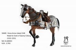 Brown Art B-a0005h 1/6 Horse Armor Set Made For Duke Of Saxony-coburg Model Toy