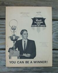 Revell Original 1964 2nd National Open Model Car Contest Store Flyer Trophy Ad