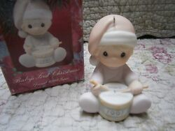 Precious Moments Ornament Babys First 1st Christmas 1991 Girl Playing Drum