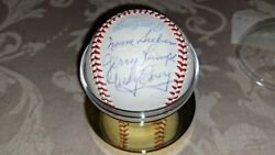 Sieburn Lumpe Carey Gibbs Mcmullen Signed Oal Ball W/our Coa Pdbx2