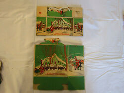 Vintage,antique Candy Boxes- Early Reindeer No 1 Lg. And Small