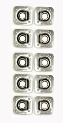 10 - 5000 Stainless Steel 4 Bolt Recessed D Ring Rope Tie Down Chain Trailer