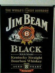 Vintage Jim Beam Metal Sign. Perfect For A Bar Room Or Man Cave 12 W 16 L