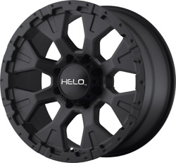 5 Helo He878 17x9 Black Rims 33 Nitto At Tires Package 5x5 Jeep Wrangler Jk Jl