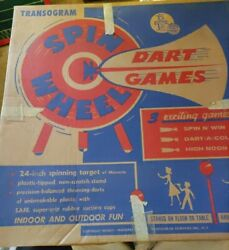 Vintage Toy Game Transogram Dart Games Rare 24 Across Board With Box