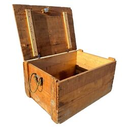 Rustic Wooden Mid Century British Gas Mask Crate
