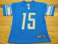 Nike Nfl Detroit Lions Golden Tate Jersey Size Youth M 10-12