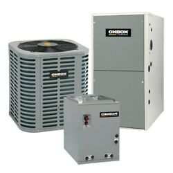 Oxbox - 2 Ton Cooling - 54k Btu/hr Heating - Air Conditioner + Single Speed F...