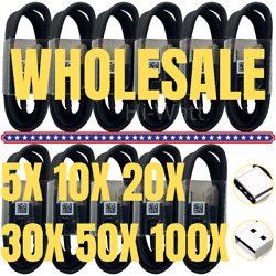Wholesale Bulk Usb C Type C Cable Fast Charger Lot For Samsung S20 S9 S10 Ultra