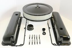 Ford Fe Black Engine Dress Up Kit Tall Valve Covers Air Cleaner 57-76 390 427