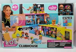 Lol Surprise Remix Clubhouse Playset Fold Up House W/ 2 Exclusive Tots Dolls Nib