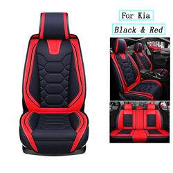 Car Seat Covers 5-seats Suv Truck Full Set Pu Leather Frontandrear For Kia Soul