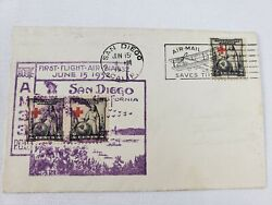 1932 First Flight First Day Issue Rare 1931 American Red Cross 50th