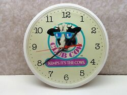 Kemps Dairy Kemps It's The Cows Club Cow Battery Operated Wall Clock Works Exc