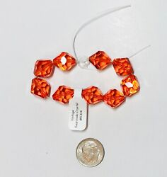 Vintage Andreg Crystal Beads 5304 - 12mm - Hyacinth - 9 Pieces
