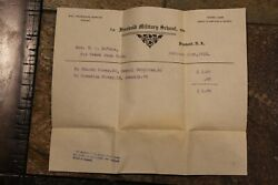 Vintage Freehold Nj Military School Documents, 4 Pieces, Dated 1913-1914556c