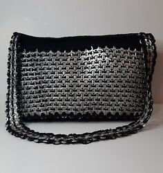 Hand Made Upcycled Aluminum Soda Can Tabs Tops Crocheted Purse Vintage