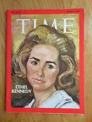 Ethel Kennedy April 25 1969 Time Magazine No Label Justice And Human Rights
