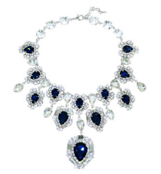 Minwhee Art Jewelry - The Dignity Of The Queen, Sapphire Necklace, K-pop