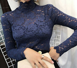 Embroidered floral Lace Top Hollow Chiffon vintage