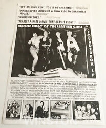 VTG Promo Poster for Planet Pimp's Records Comp. BlOOD ORGY OF THE LEATHER GIRLS $59.88