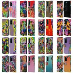 Official Dean Russo Dogs 3 Leather Book Wallet Case Cover For Huawei Phones