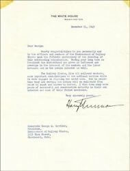 Harry S Truman 1949 Typed Letter Signed As President - Fighting Two World Wars