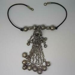 Vintage Handmade Bedouin Coin Silver Dancer Bell Beads Toggle,middle East, Saudi