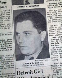 Jimmy Hoffa Afl Teamsters Labor Union Leader Indictment 1946 Detroit Newspaper