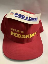 Vintage Redskins Snapback Hat Pro Line New W/ Tags Spell Out Nfl Official