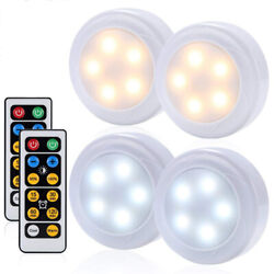 Wireless Led Puck Lights Cct Closet Under Cabinet Lighting With Remote Control