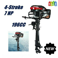5100w 4stroke 7hp Outboard Motor Fishing Boat Engine W/air Cooled Sys Long Shaft