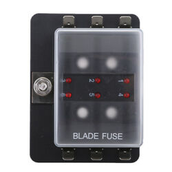 Led Safety Indictor Light Blade Fuse Box Circuit Fuse Block For Boat Car 6 Way