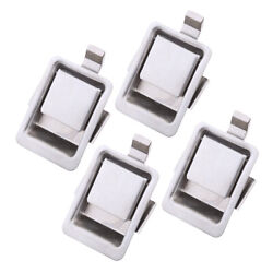 4pieces Silver Mini Stainless Recessed Mounted Push Lock For Camper Trailer Boat