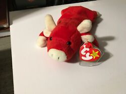 Ty Beanie Babies Collection- Andnbspsnort The Bull 1995 Rare Tag Errors Pvcandnbsp