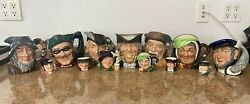 Lot Of 14 Vintage Royal Doulton Toby Literary Character Mugs Jugs Pre-owned