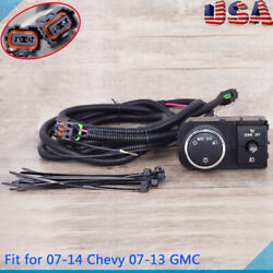Fog Light Wiring Harness And Switch Fit For 07-14 Chevy Silverado 07-13 Gmc Sierra