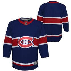 Montreal Canadiens Navy Special Edition Premier Youth Blank Nhl Hockey Jersey
