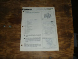 Yanmar Rollover Protective Struct Rops Ym122 Tractor Operator Maintenance Manual