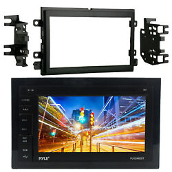 Pyle Plrdn62bt Double Din Bluetooth Usb Aux Stereo Receiver Radio Install Kit
