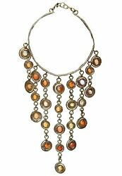 Vintage Pal Kepenyes Rare Mexican Opal And Bronze Chandelier Necklace