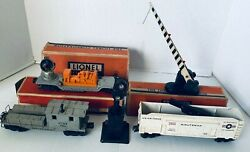 Lionel O Train Searchlight Caboose Minuteman Missile Car Crossing Gate Vintage