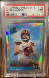 2018 Donruss Optic Baker Mayfield Holo Rated Rookie Rc 153 Psa 9 Mint Browns