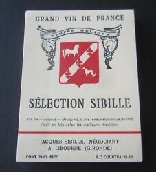Wholesale Lot Of 100 Old Vintage - Selection Sibille - French Wine Labels