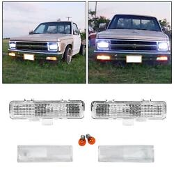 Front Corner+bumper Signal Lights For 83-94 Chevy Blazer And 82-93 S10