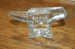 Miniature Solid Glass Paperweight Anvil Blacksmith Seattle Wa Moore R Co Vintage