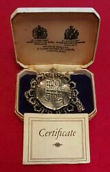 Lucayan Beach Pirate Treasure Of 1628 Mexico 8 Reales On Silver Chain Coa And Case