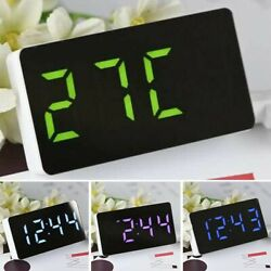 Small Alarm Clock Snooze Temperature Timer Digital Display Electronic LED