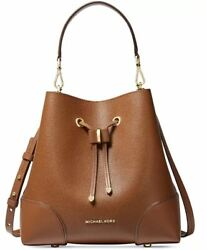 NWT Michael Kors Mercer Gallery Convertible Bucket Leather Shoulder Bag $209.99